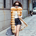 90CM Real Fur Vest 2016 Winter Thick Silver Fur Vests Jackets for Women Sleeveless Long Genuine Fur Women's Vest Colete De Pele