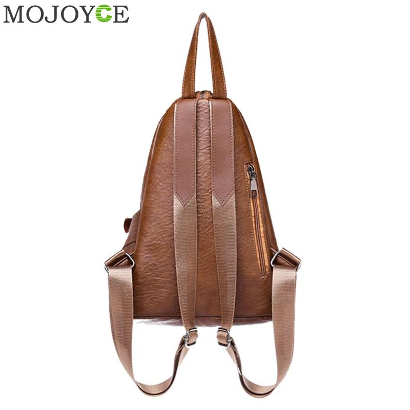 Creative Leisure Women Backpacks Women's Pu Leather Backpacks Female School Shoulder Bags For Teenage Girls Travel Back Pack #5