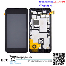 Original For Nokia Lumia 530 Lumia530,Rock,M-1018,RM-10 N530 LCD Display Touch Digitizer Screen Assembly with frame Freeshipping