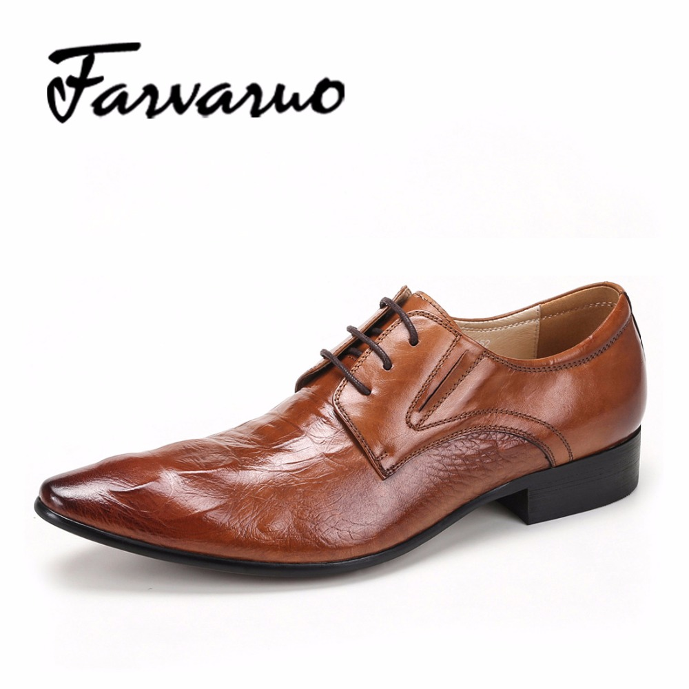 Italian Mens Luxury Genuine Leather Crocodile Casual Shoes Men Laces Oxford Pointed Toe Business Derby Wedding Shoe Hommes Black new arrival men casual business wedding formal dress genuine leather shoes pointed toe lace up derby shoe gentleman zapatos male