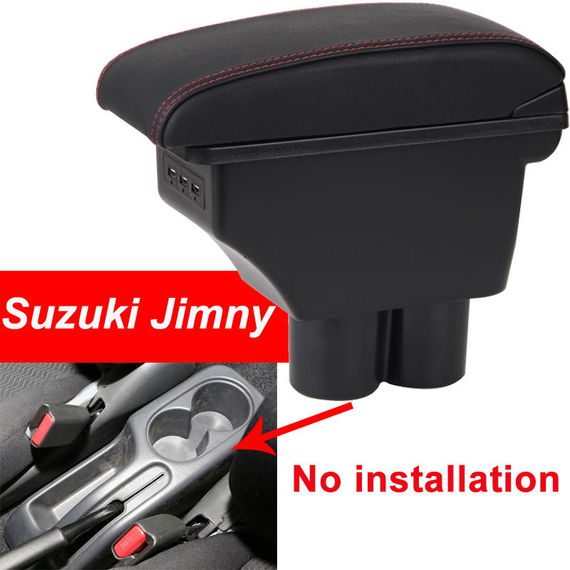 for Suzuki Jimny armrest box universal car center console caja modification accessories double raised with USB