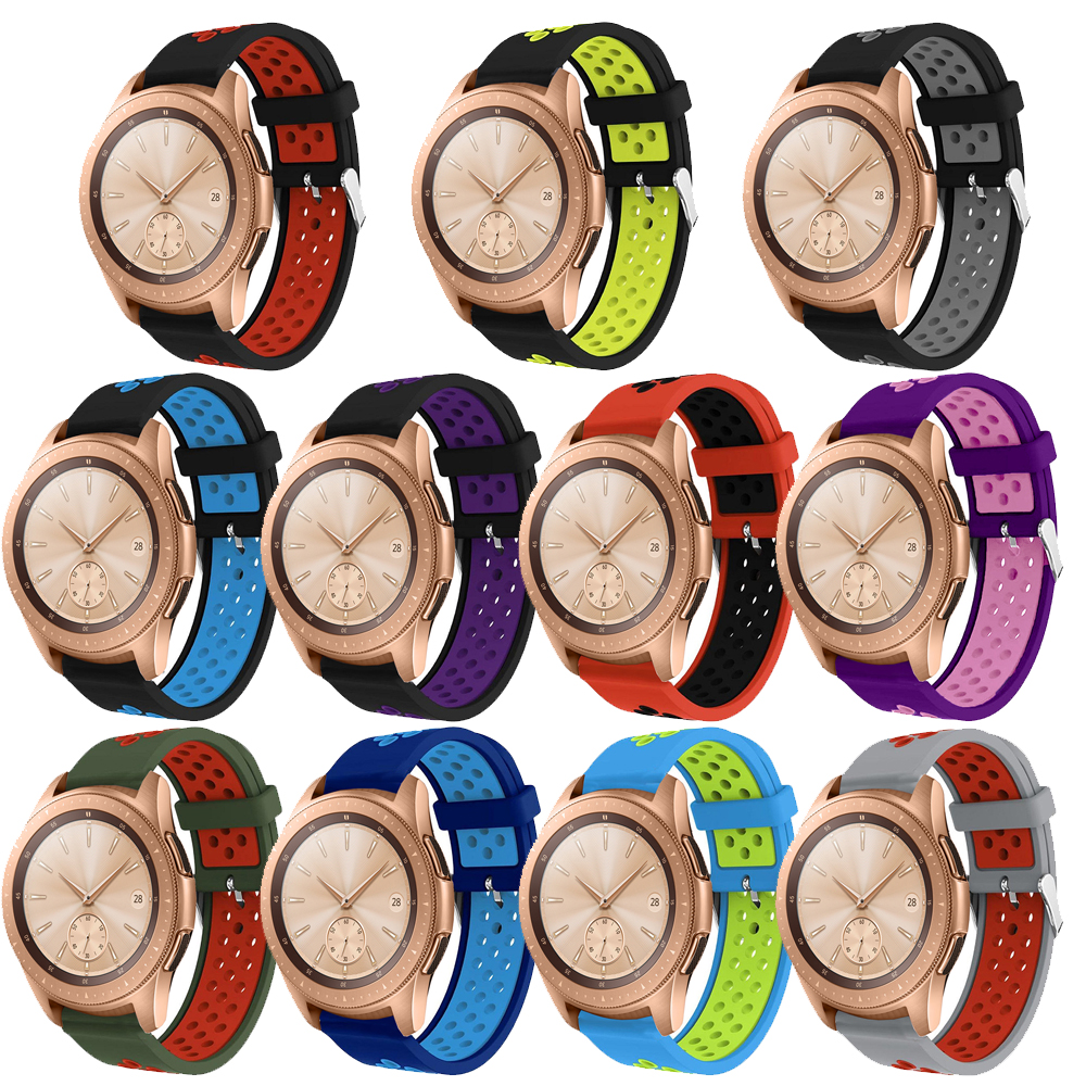 Soft Sport Silicone Watch Band Strap for Samsung Galaxy Watch 42mm 46mm Replacement Bracelet Wristband strap for galaxy watch