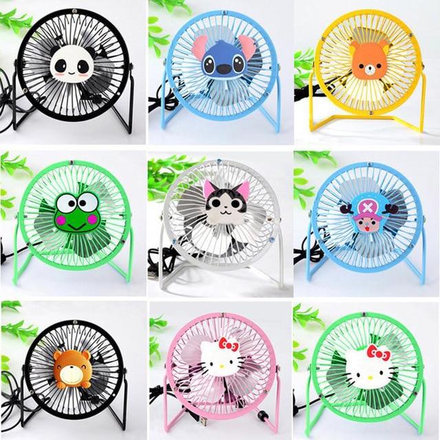 15 Colores de 360 Grados giratoria de Carga Mini Ventilador Colorido Mini USB Ventilador Silencioso Ventilador Portátil de Trabajo de Oficina En Casa Al Aire Libre de verano