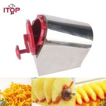 цена на ITOP Manual Stainless Steel Spiral Potato Slicer Potato Tower Kitchen Tool Fruit & Vegetable Tool Potato Tower Cutter