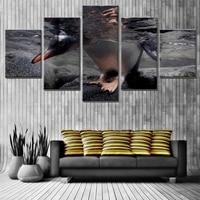 Niedlichen Pinguin in Wasser Poster Ziemlich Hauptdekorationen Leinwand Wandkunst HD Ölgemälde Leinwand Wasserdicht Maßgeschneiderte Großhandel