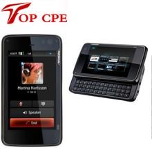 Free ship Russian keyboard original unlocked Refurbished Nokia N900 3G GSM mobile phone WIFI GPS 5MP 32GB internal Storage