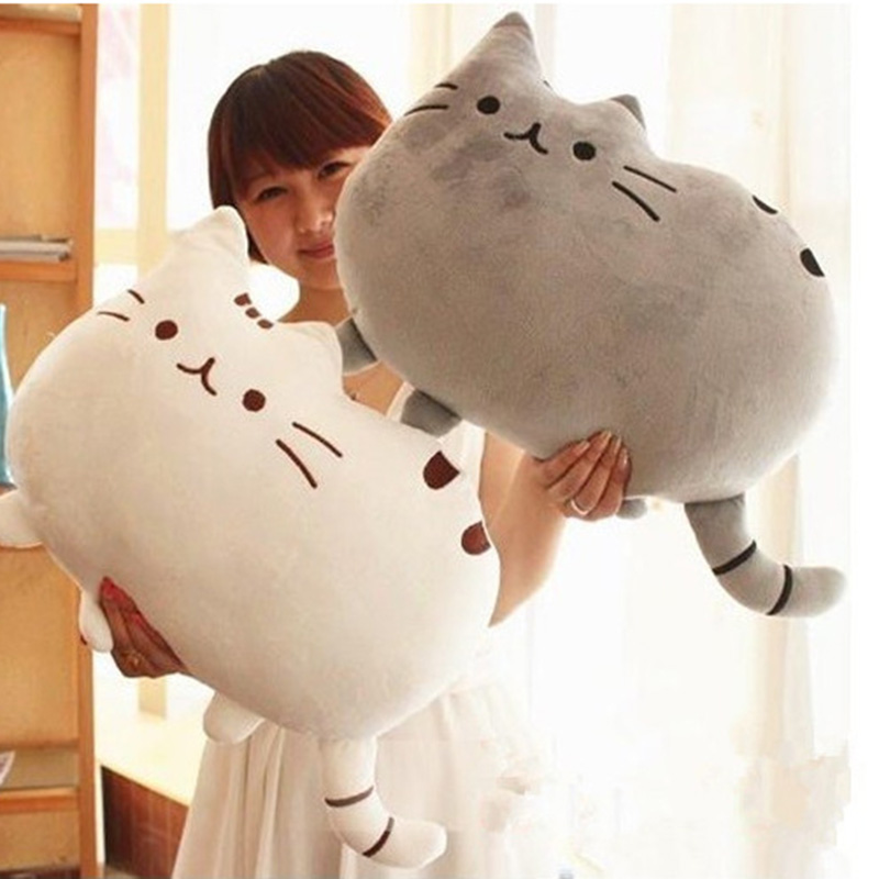 40*30cm Pusheen Cat Plush Toys Stuffed Animal Doll Animal Pillow Toy Pusheen Cat For Kid Kawaii Cute Cushion Brinquedos Gift 2015 kawaii biscuits cats 40 30cm cute stuffed animal plush toys dolls pusheen shape pillow cushion for kid home decoration