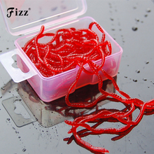 цена на 20g/Box Artificial Blood Worm Smell Lure Soft Rubber Fishing Lure Bait Fishing Tackle Accessories Dropshipping