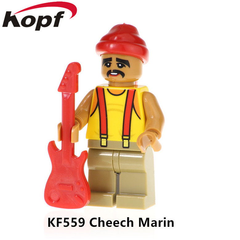 50Pcs KF559 Super Heroes Anders Manuel Lopez Obrador Assemble Cheech Marin Building Blocks Model Bricks For Children Gift Toys(China)