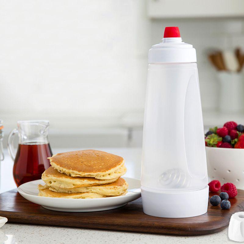 Hand Batter Mixing Bottle Waffles Pancake Batter Dispenser Cupcake Batter Mixer Shaker Bottle Muffin Home Kitchen Baking Tools