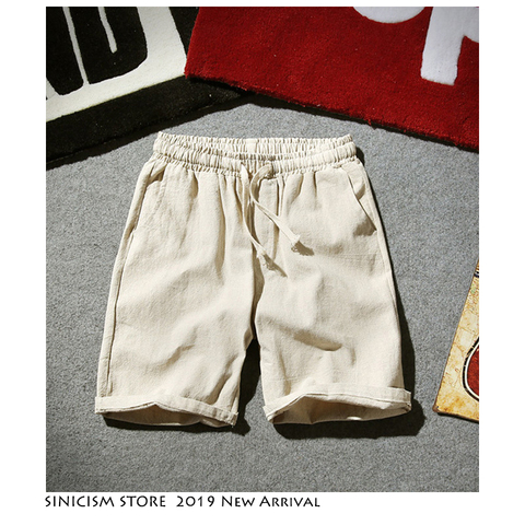 Sinicism Store Colorful Cotton Linen Summer Shorts Men 2019 Beach Shorts Mens Khaki Joggers Shorts Casual White Sweatshorts 5XL Islamabad