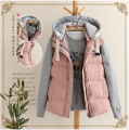 2014 new winter casual hooded down vest women warm thick cotton vest female cardigans waistcoat jacket