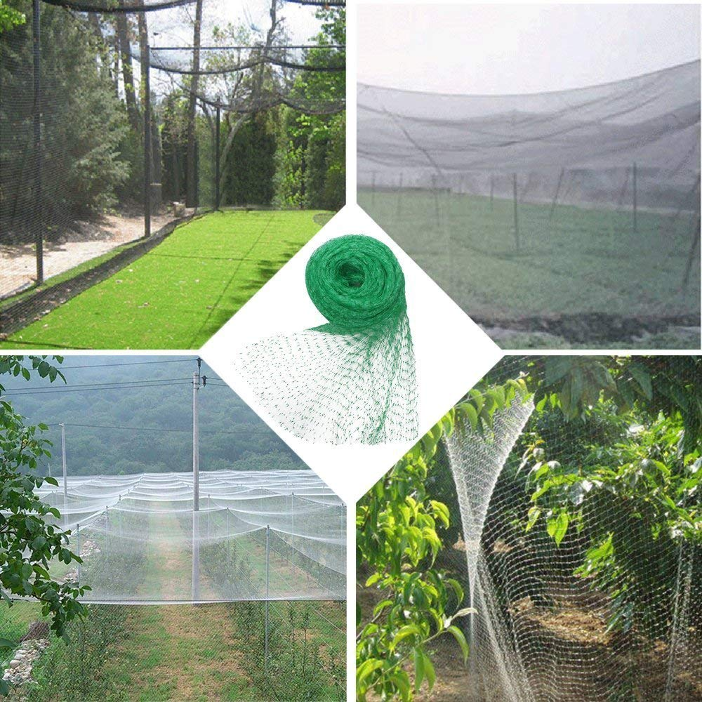4*10M Anti Bird Netting Plastic Pond Fruit Tree Vegetables Net Protection Crops Flower Garden Mesh Protect