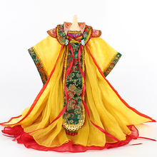 New Peosonality Chinese Traditional Exquisite Dress For Girl Dolls Ancient Dress For 30CM Dolls DIY Hanmade Doll AccessoriesZ824 32cm traditional chinese queen dolls pretty girl bjd dolls movies