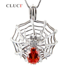 CLUCI spider web necklace pendant sterling silver animal charm jewelry Amazing Halloween gifts 3pcs