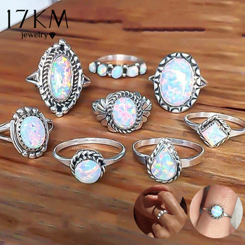 Opal Knuckle Womens Rings Set