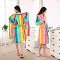 Vestes Venda Quente Chegada Real Completa 2016 Coral Robe Qiu Dongkuan Amantes flanela Roupão Feminino Vison Jade No Longo De Grande tamanho
