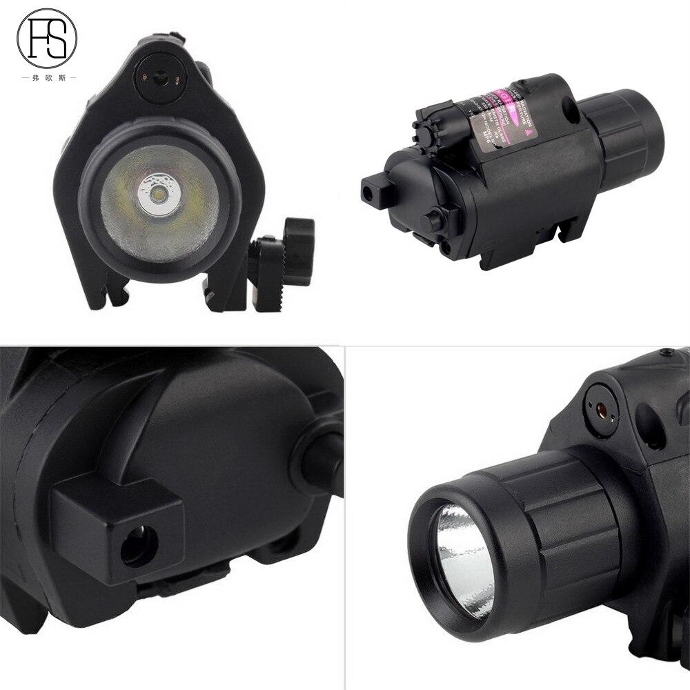 2en1 Tactical Red Dot Laser Sight + LED Flashlight Combo Hunting - Caza - foto 5