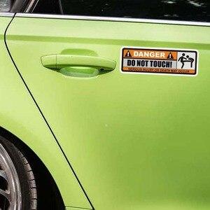 Image 3 - YJZT 2X 12,5 CM * 3,9 CM GEFAHR NICHT TOUCH Auto Aufkleber Lustige SCHWEREN VERLETZUNGEN ODER TOD AUFTRETEN können aufkleber PVC 12 0915