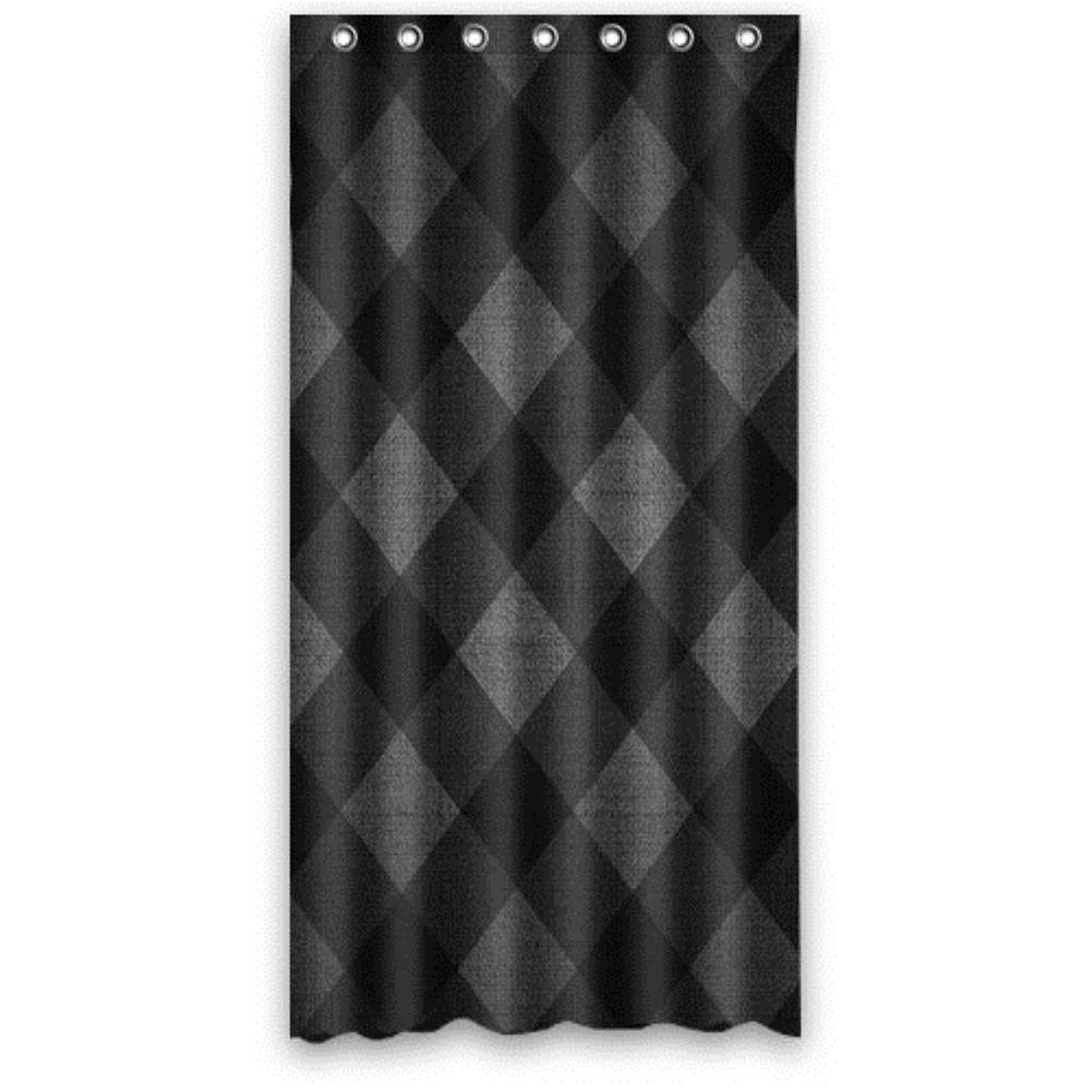 Grey And White Gingham Curtains Us 24 99 Grey And Black Gingham Check Custom Bathroom Curtain Shower Waterproof Bathroom Shower Curtain Polyester Fabric 60 W X72 H In Shower