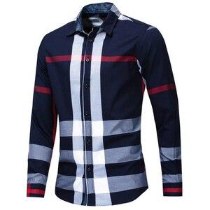Image 5 - NEW shirt Business casual autumn long sleeve men shirts High quality brand 100% cotton plaid shirt men Plus Size chemise homme