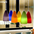 Modern Fashion Colorful Glass Pendant Lights Indoor Lighting Pendant Lamps for Dining Living Room Bar Coffee Shop Hanging Lights