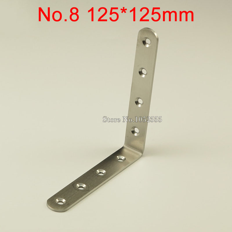 10pcs 125*125*20mm stainless steel angle bracket L shape thicker frame board support fruniture hardware K248 125