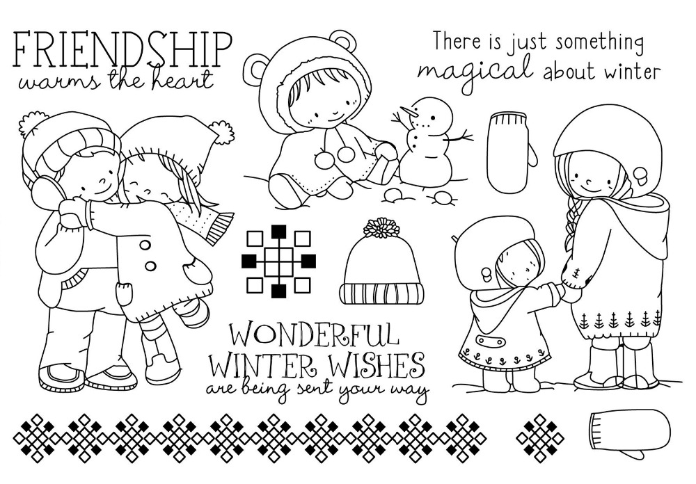 CLEAR STAMPS Winter DIY Scrapbook Card Album Paper Craft Silicon Rubber Roller Transparent Stamps A575