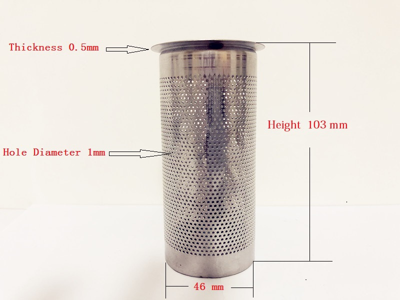 Free Shipping 2 Gin Basket Filter For Home Distillation,Sanitary Stainless Steel 304 Length 103mm Diameter 46mm Thikness 0.5mmFree Shipping 2 Gin Basket Filter For Home Distillation,Sanitary Stainless Steel 304 Length 103mm Diameter 46mm Thikness 0.5mm