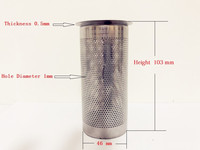 Free Shipping 2 Gin Basket Filter For Home Distillation,Sanitary Stainless Steel 304 Length 103mm Diameter 46mm Thikness 0.5mm