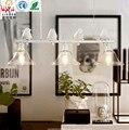 Simple creative personality saving bedroom living room chandelier American Iron Restaurant Bar Art three birdies chandelier