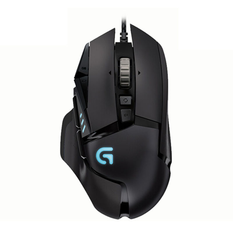 100% genuino confezione Inglese Logitech G502 RGB LED Spettro Proteus Sintonizzabile Laser Gaming mouse USB Wired 12000 DPI mouse Gamer