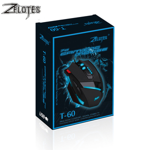 Image 5 - ZEALOT T 60 Wired Gaming Mouse 7 button 3200 DPI 4 Color LED Light Optical USB Computer Gamer Mice for PC laptop