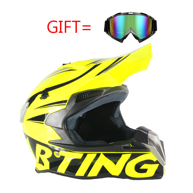 Brand New Motorcycle Motocross Helmet Off-Road Racing Dirt Bike Helmets Gear S M L XL XXL Moto Casque Capacete Casco DOT цена