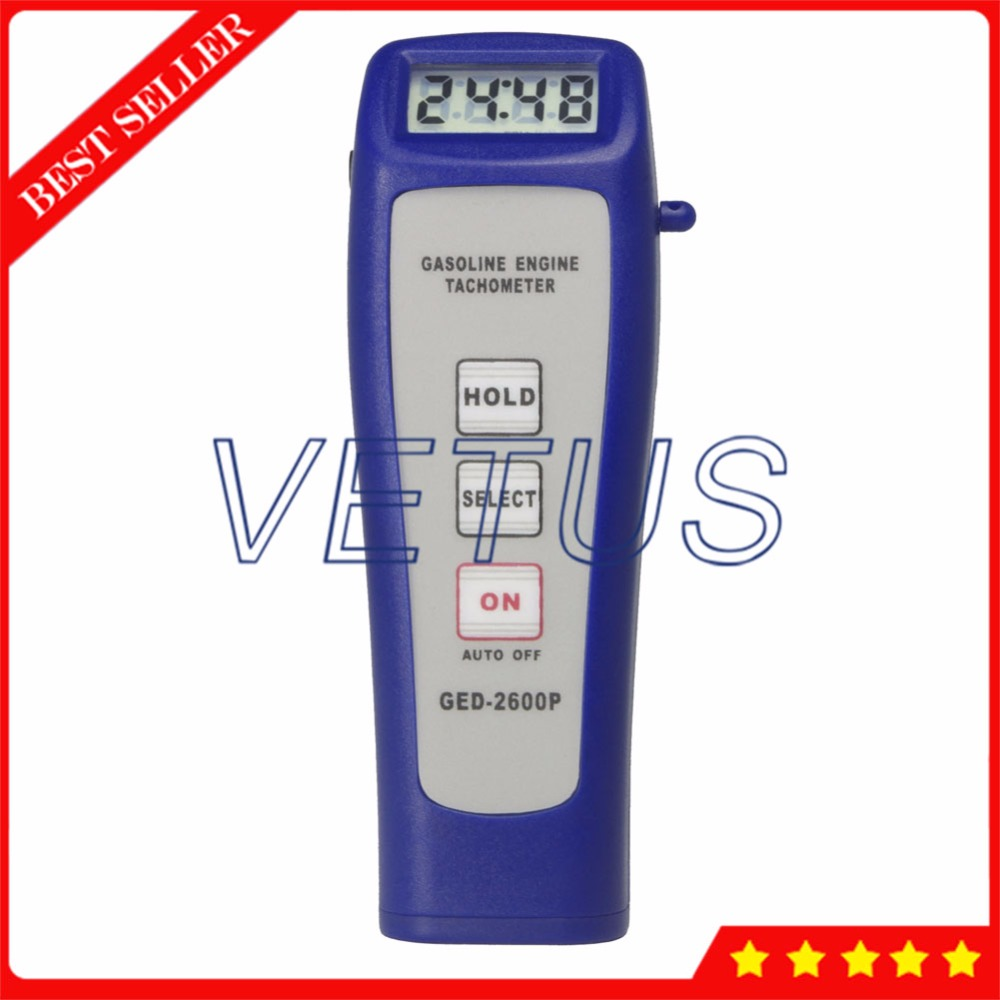 все цены на GED2600P Digital Tachometer Price with 100~9,999 r/min Non-contact rotational speed tester Engine Tach RPM Meter GED-2600P