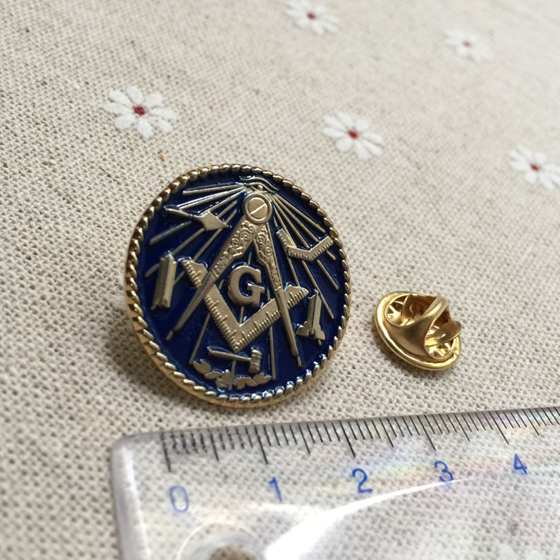 US $75 0 |100pcs wholesale custom make masonry brooch and pin freemasonry  masonic lapel pin badges Working Tools Freemason metal crafts-in Pins &