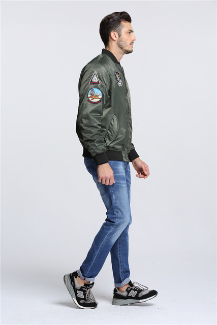 Ma-1 tactical pilot bomber jacket military embroidered