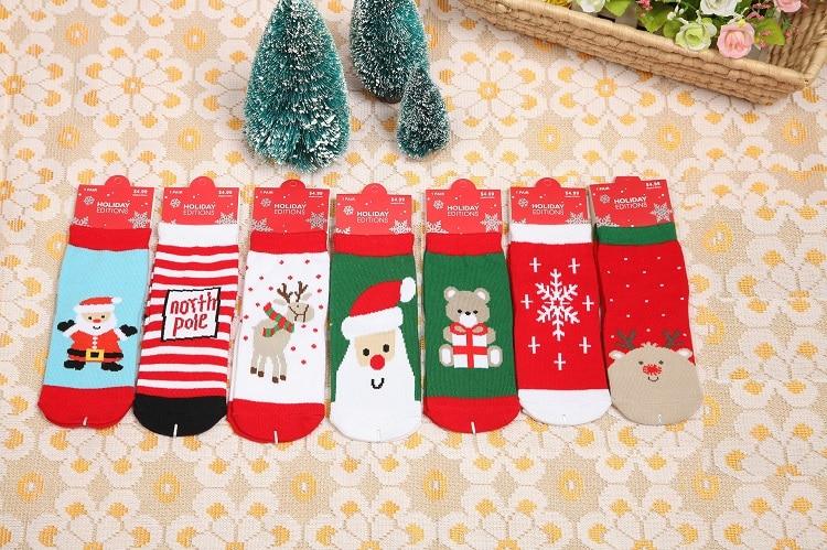 Winter Baby Christmas Socks Anti Slip Children Toddler Cotton Blend Socks For Kids Boy Girl Amazing