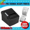 Высокая Скорость 80 мм Принтер 300 мм/сек. Термальный Чековый POS Принтер Автообрезки Windows Android IOS USB/bluetooth Интерфейс печать