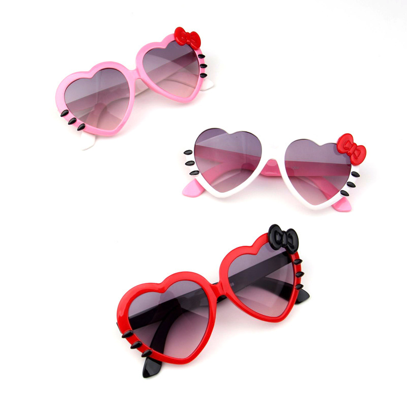 Children Heart Sunglasses Lovely Baby glasses For Boys And Girls Kids Shades UA400