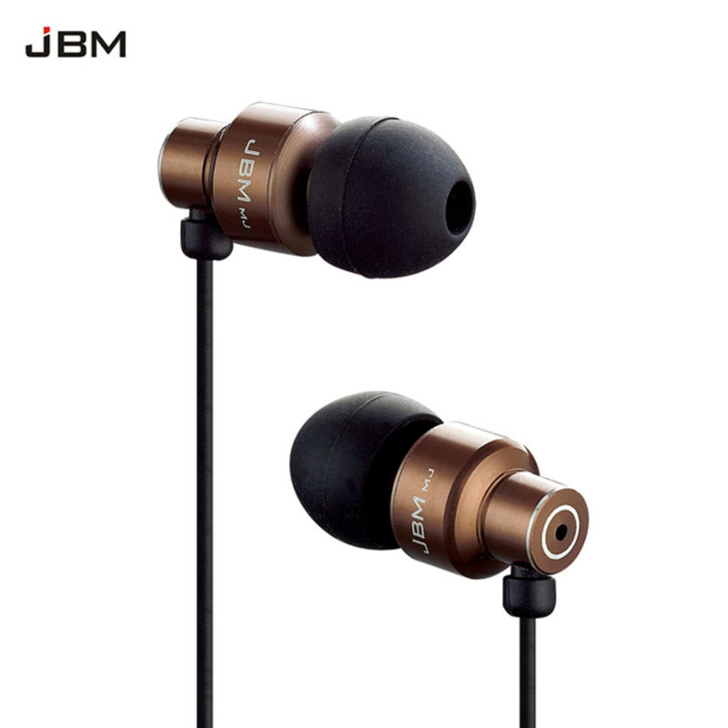 Original JBM MJ-8600 Bass In-ear Earphones Super Clear Metal Earphone Noise isolating Earbud For iphone 6 Meizu Xiaomi MP3 PC