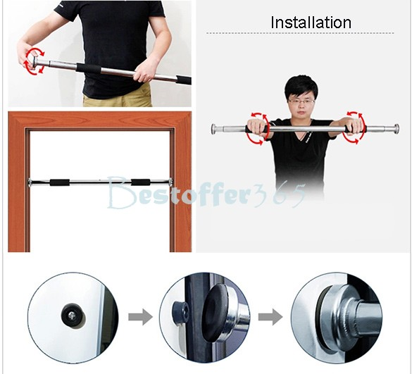Door Horizontal Bar Fitness Exercise Gym Equipment Training Chin Up U0026 Pull  Up Bar Doorway Adjustable Home Workout Sv16 SV002908 In Horizontal Bars  From ...