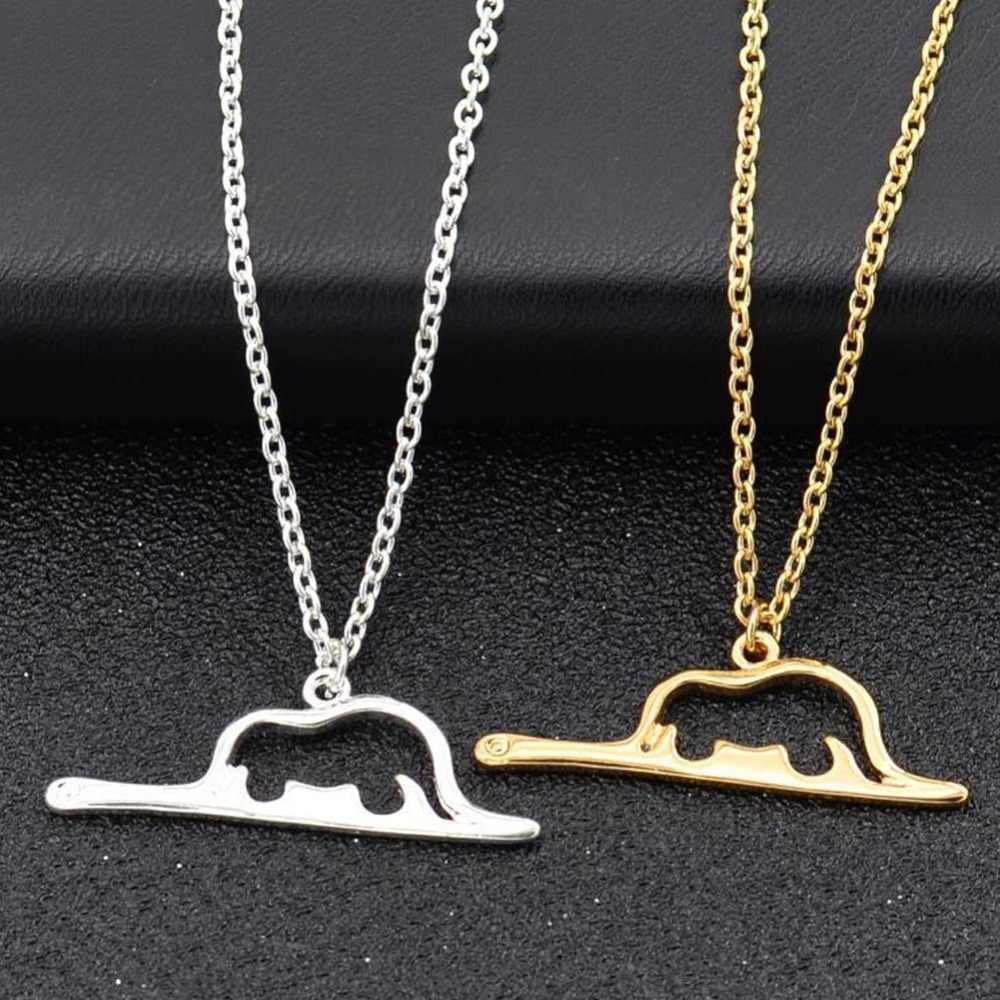 New Costume Jewelry Snake Animal Boa Constrictor Digesting Elephant Charm Necklaces Le Petit Little Prince Necklace Gift #275193