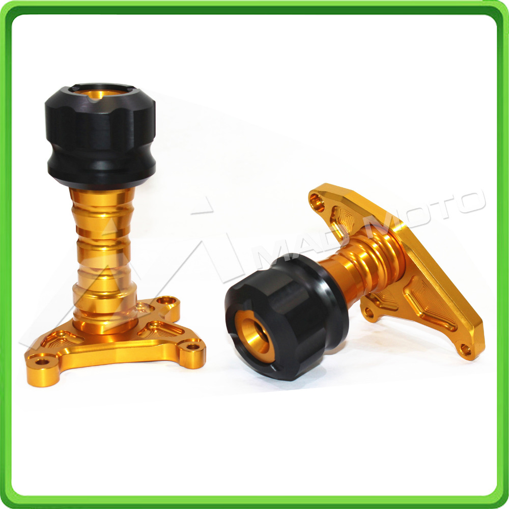 Motorcycle Engine Crash Protectors FRAME SLIDERS For Honda Grom MSX125 MSX 125SF 2013 2014 2015 2016 Gold