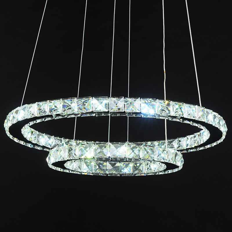 home lighting Ring LED Crystal Pendant lights modern living room light Dining room three bedroom creative pendant lamps modern living room light dining ring led crystal pendant lights room three bedroom creative personality pendant lamps