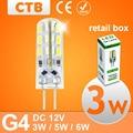 20 Pcs G4 LED Light DC 12V 3W 5W 6W LED Light SMD 3014 Silicone Corn Lamps Crystal Chandelier Lights Home Decoration Lighting
