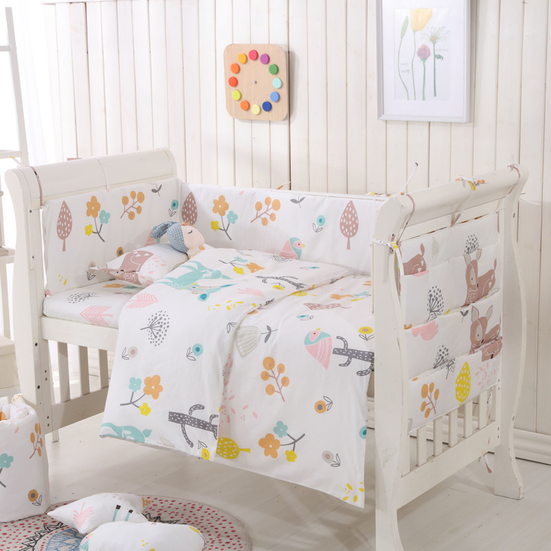 Knitted Baby Bumper Bedding Sets Collision Proof Newborn Crib Bumpers Soft Breathable Cot Bed Sheet Pillow Quilt Unisex Goods Of Every Description Are Available Baby Bedding Cotton Back To Search Resultsmother & Kids