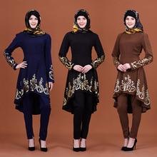 2019 New Muslim Dress Women Islamic Clothing Moroccan Kaftan Hot Stamping Fashion Abayas Robe Dubai Abaya Turkish Clothes Hi-Q
