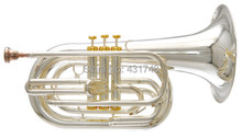 Bb Marching Baritone in Silver plated with Foambody case Brass wind instruments EMS free shipping