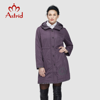 Astrid 2014 Woman S Coat High Quality Spring Autumn Trench Flowers Slim Hooded Fleece Big Size